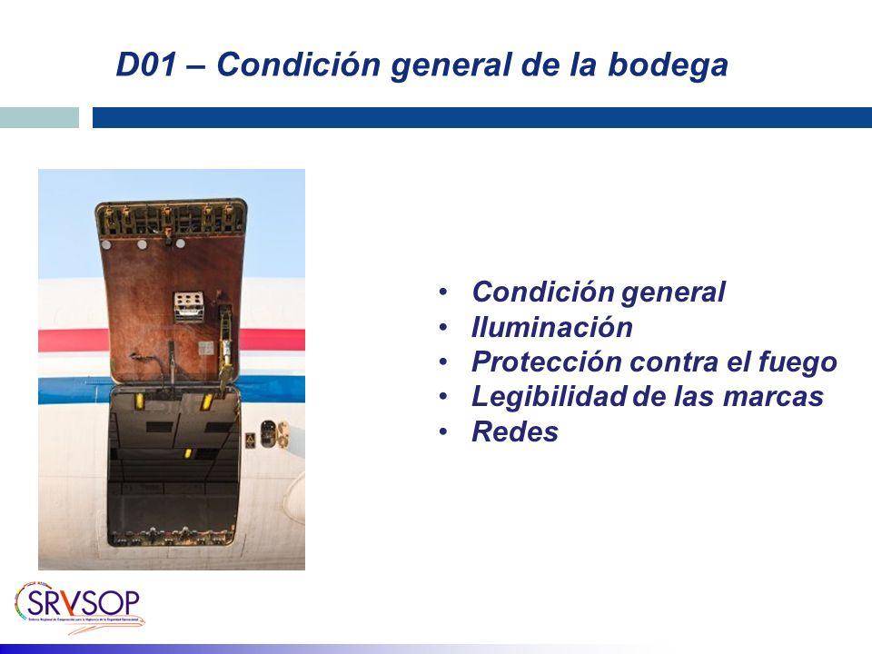 D01 – Condición general de la bodega