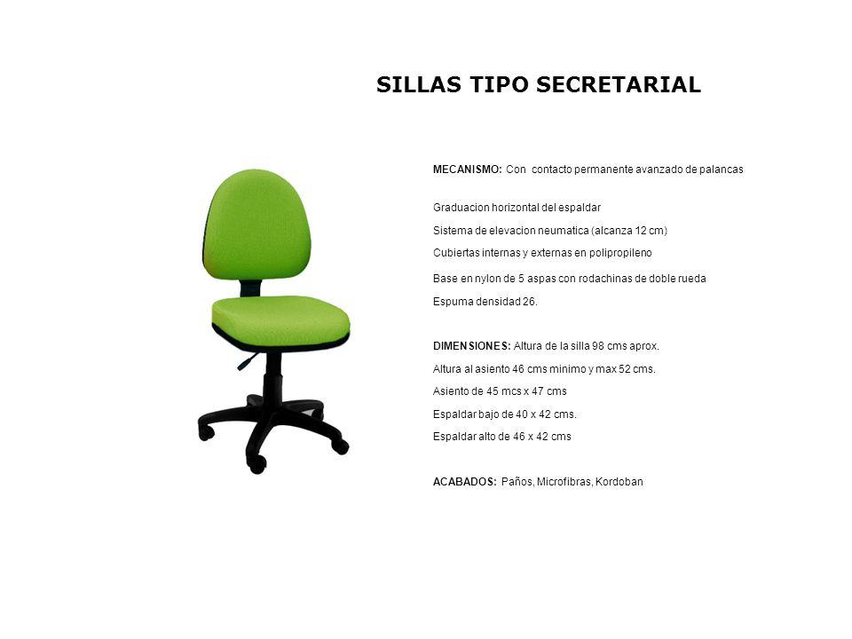 SILLAS TIPO SECRETARIAL