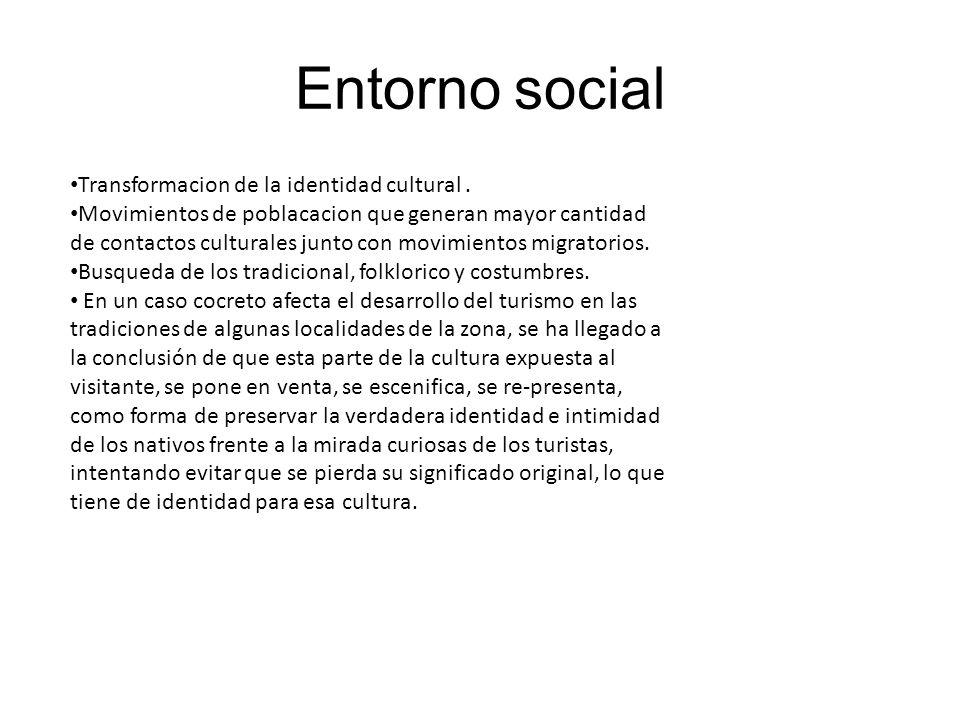 Entorno social Transformacion de la identidad cultural .