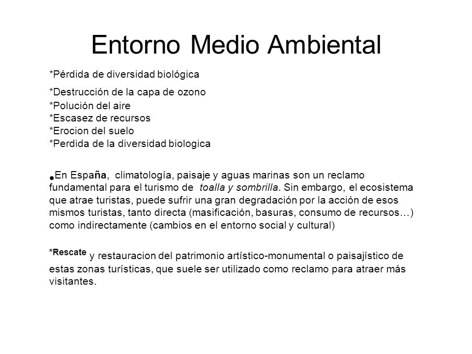 Entorno Medio Ambiental