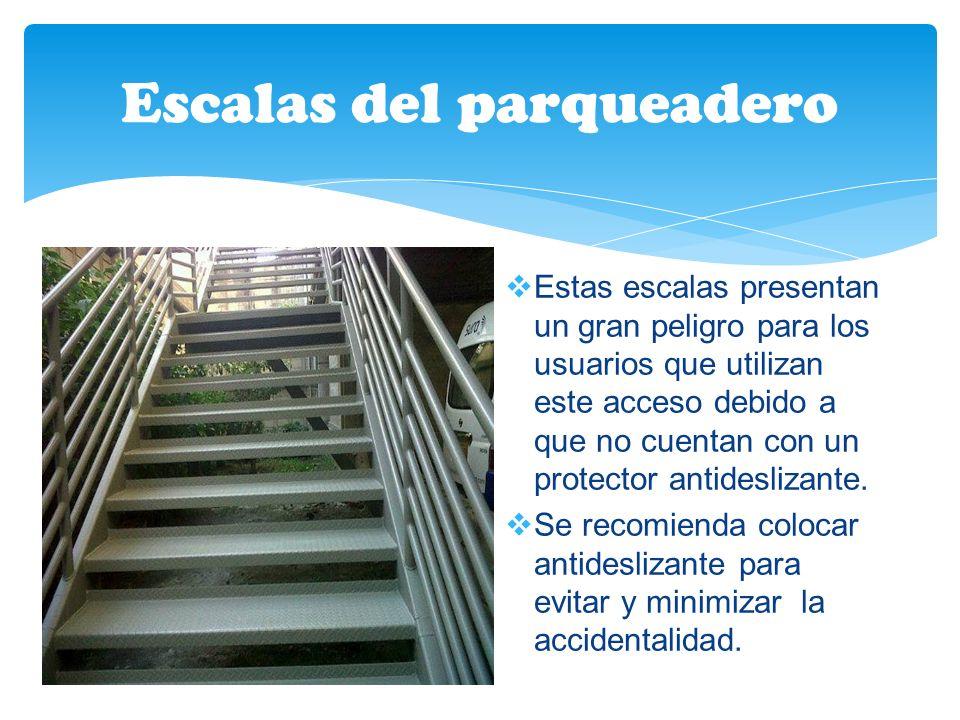 Escalas del parqueadero