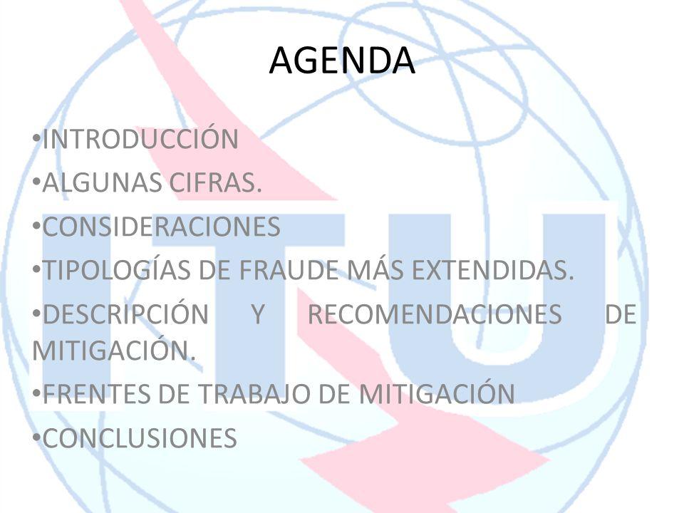 AGENDA INTRODUCCIÓN ALGUNAS CIFRAS. CONSIDERACIONES