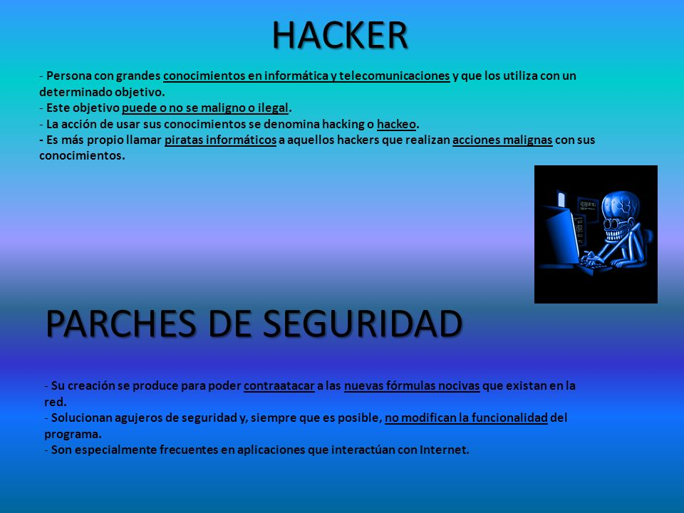 HACKER PARCHES DE SEGURIDAD