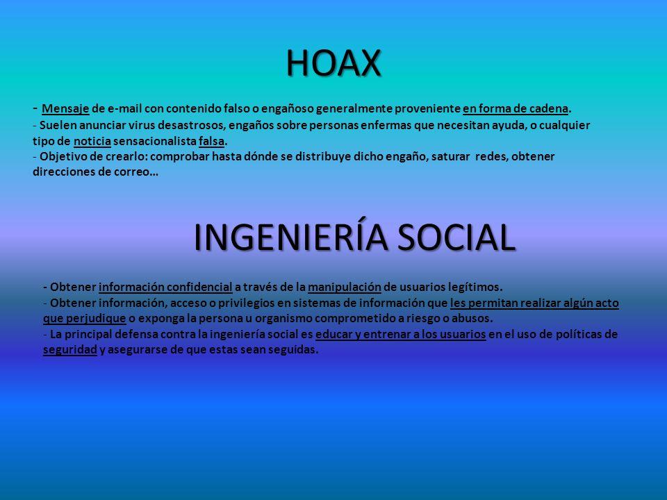 HOAX INGENIERÍA SOCIAL