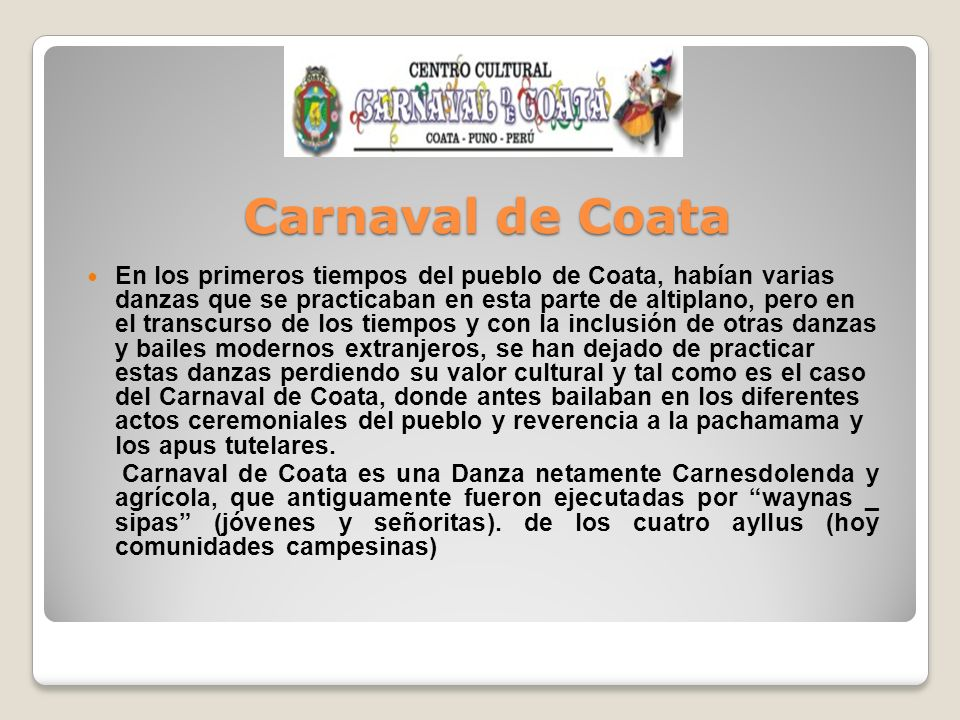 Carnaval de Coata