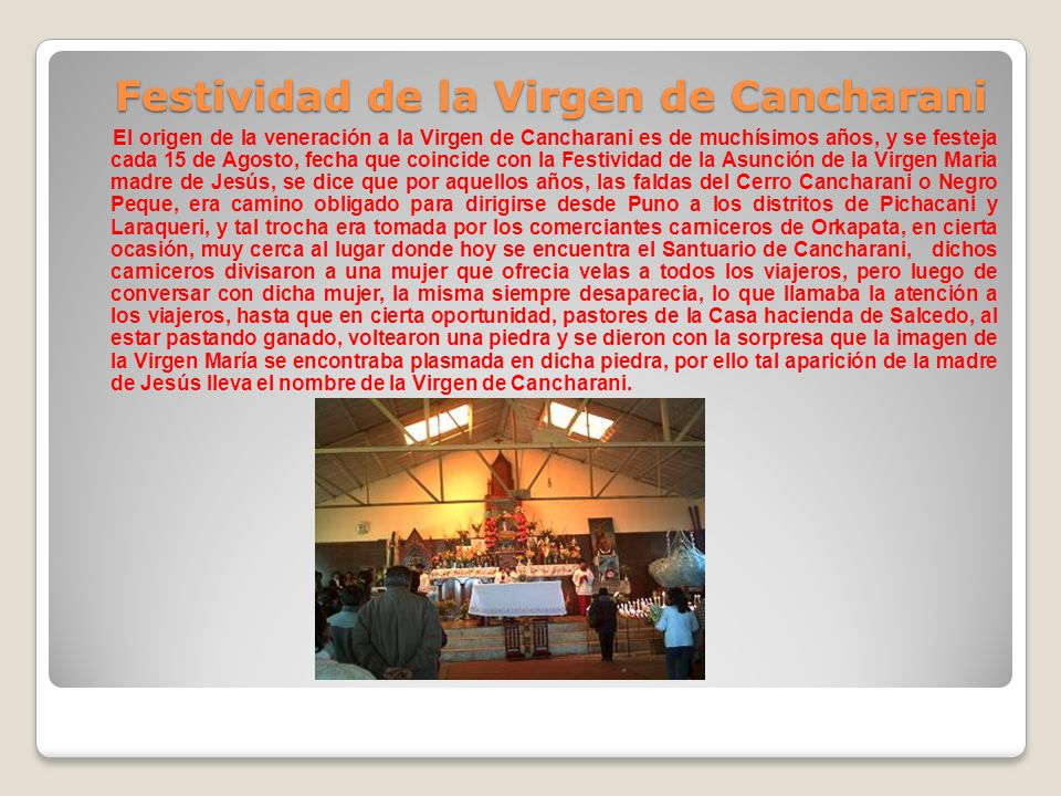 Festividad de la Virgen de Cancharani