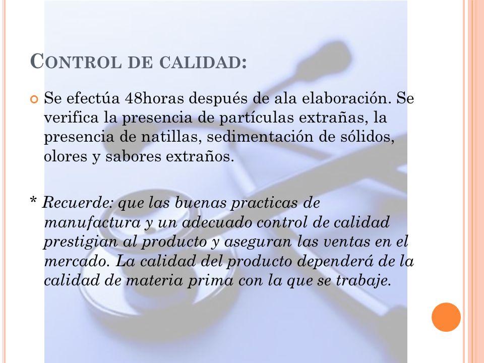 Control de calidad: