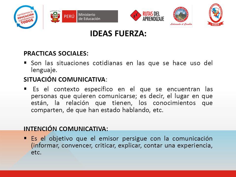 IDEAS FUERZA: PRACTICAS SOCIALES: