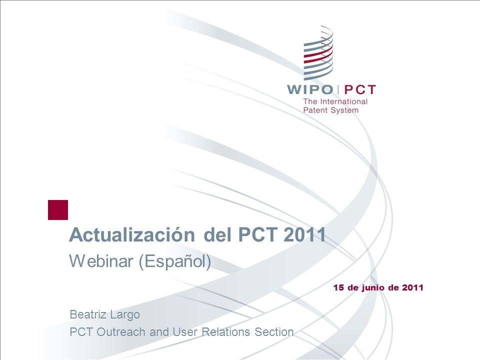 Actualización del PCT 2011 Webinar (Español)
