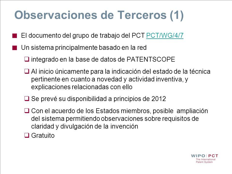 Observaciones de Terceros (1)