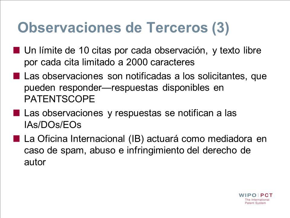 Observaciones de Terceros (3)