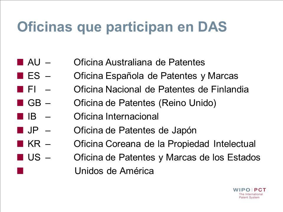 Oficinas que participan en DAS