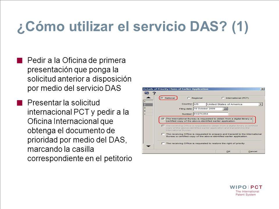 ¿Cómo utilizar el servicio DAS (1)