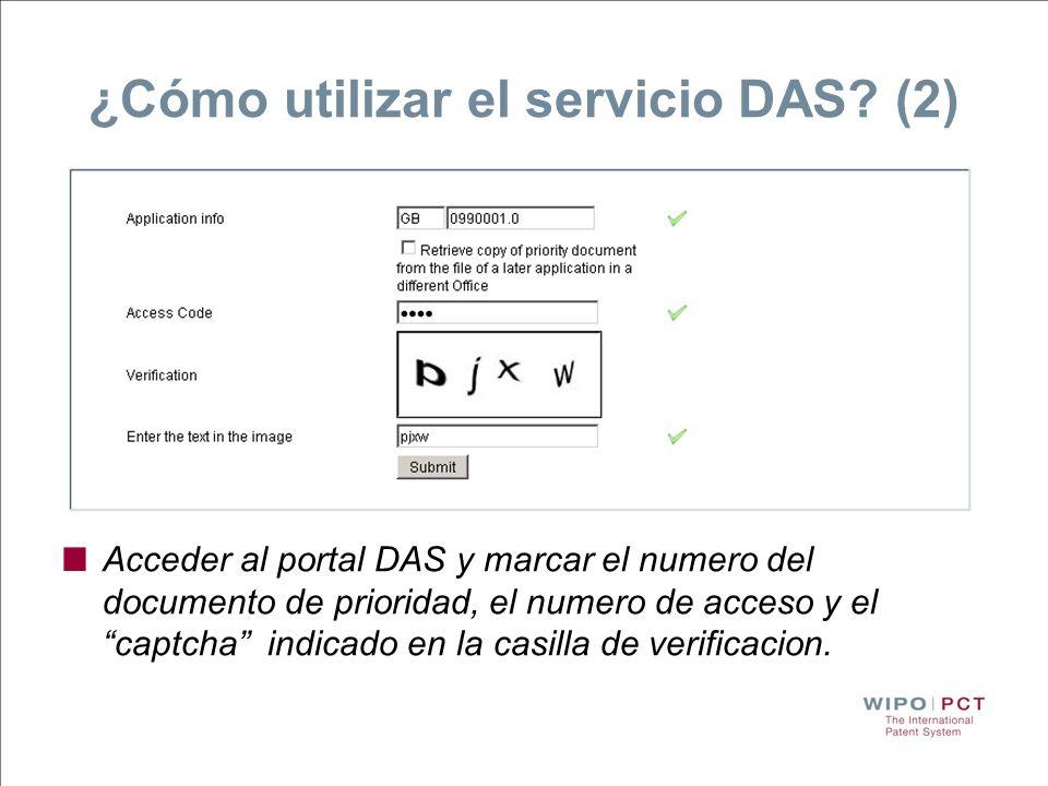 ¿Cómo utilizar el servicio DAS (2)