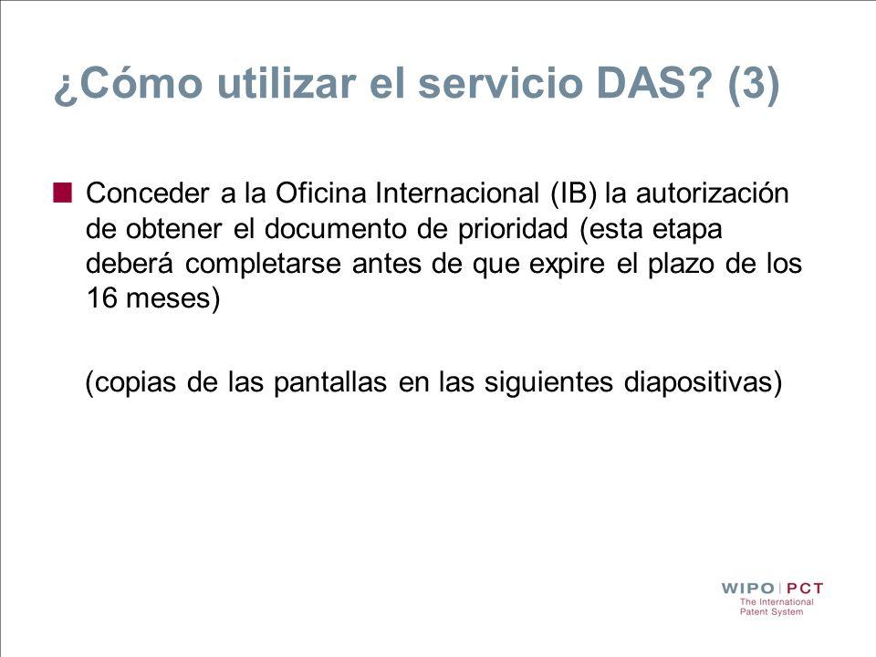 ¿Cómo utilizar el servicio DAS (3)