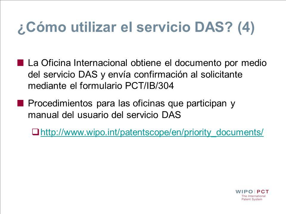 ¿Cómo utilizar el servicio DAS (4)