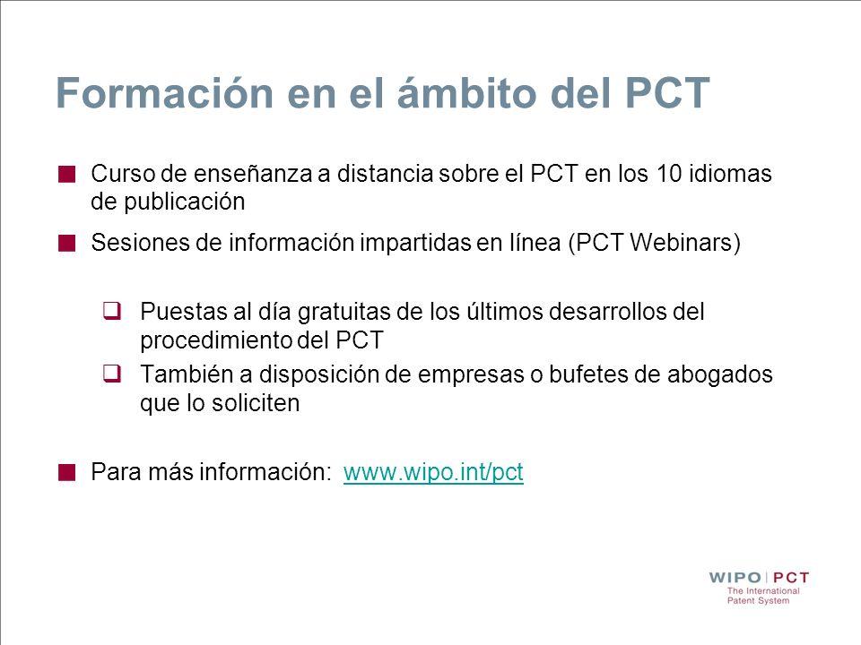 Formación en el ámbito del PCT