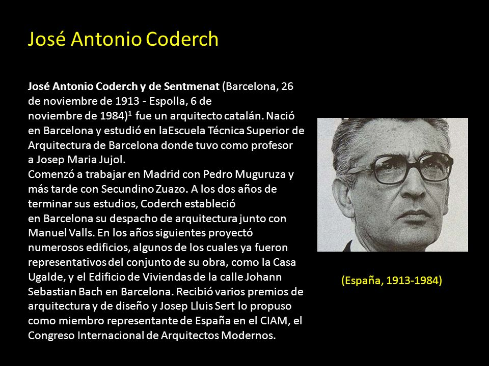 José Antonio Coderch