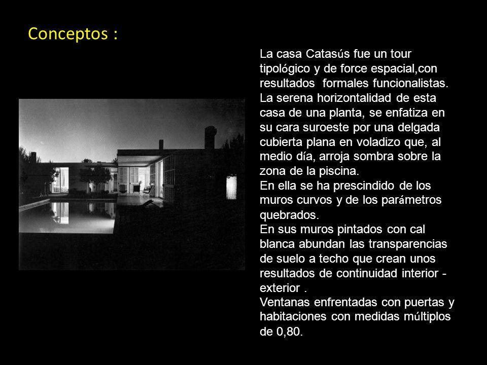 Conceptos : La casa Catasús fue un tour tipológico y de force espacial,con resultados formales funcionalistas.