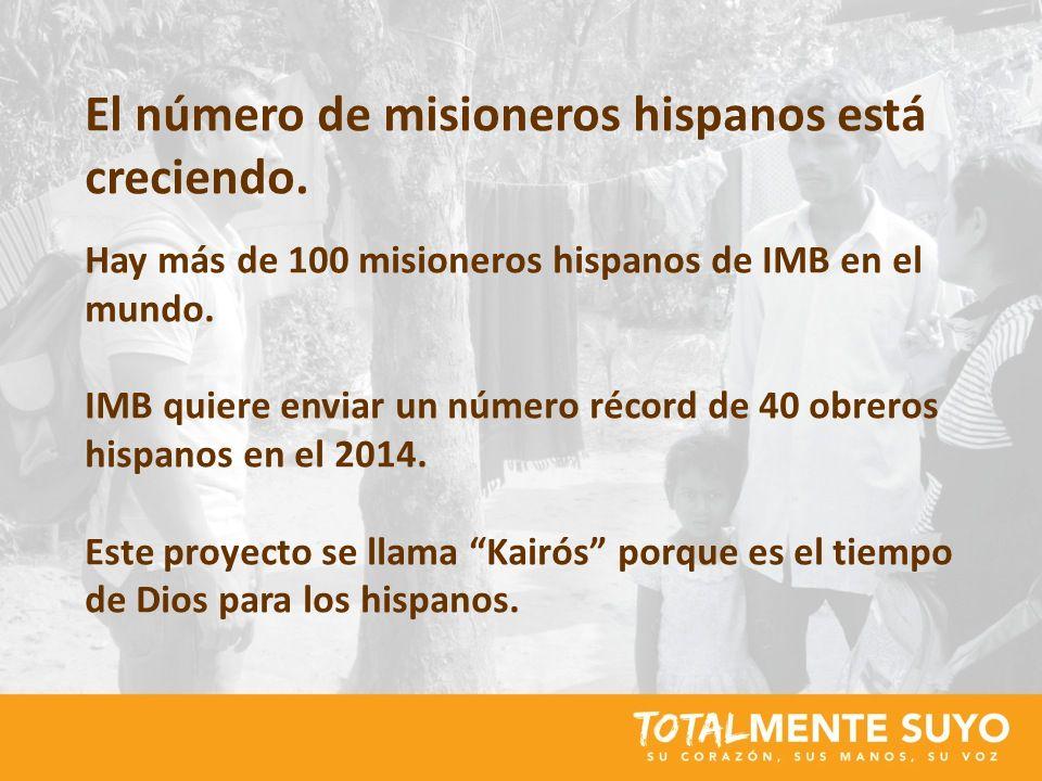 El número de misioneros hispanos está creciendo.