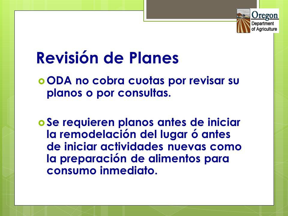 Revisión de Planes ODA no cobra cuotas por revisar su planos o por consultas.