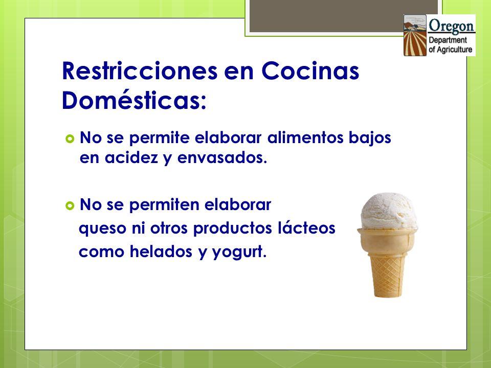 Restricciones en Cocinas Domésticas: