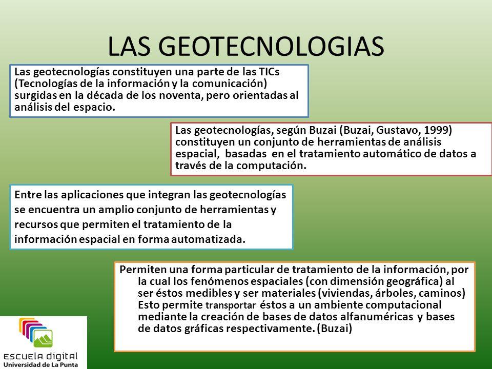 LAS GEOTECNOLOGIAS
