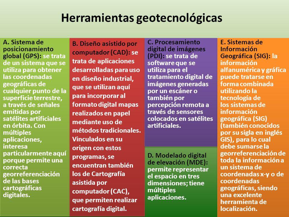 Herramientas geotecnológicas