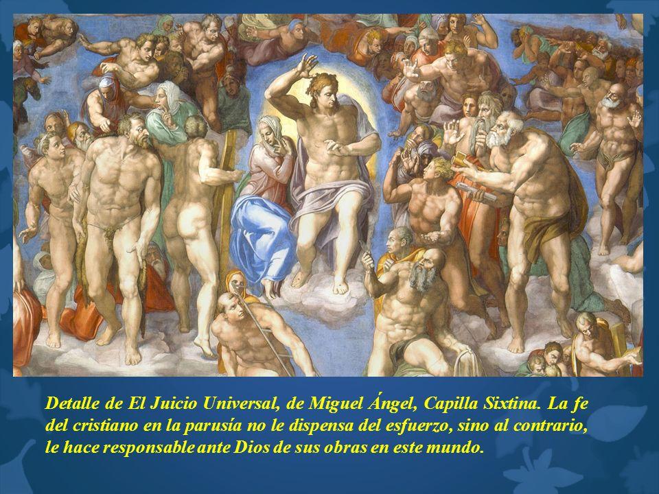 Detalle de El Juicio Universal, de Miguel Ángel, Capilla Sixtina