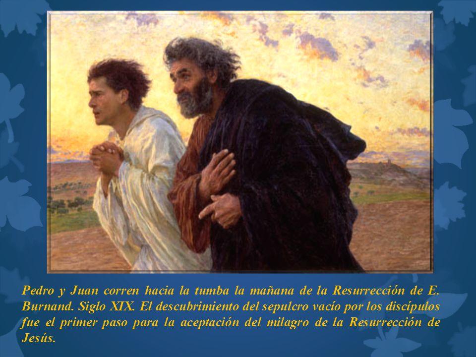 Pedro y Juan corren hacia la tumba la mañana de la Resurrección de E