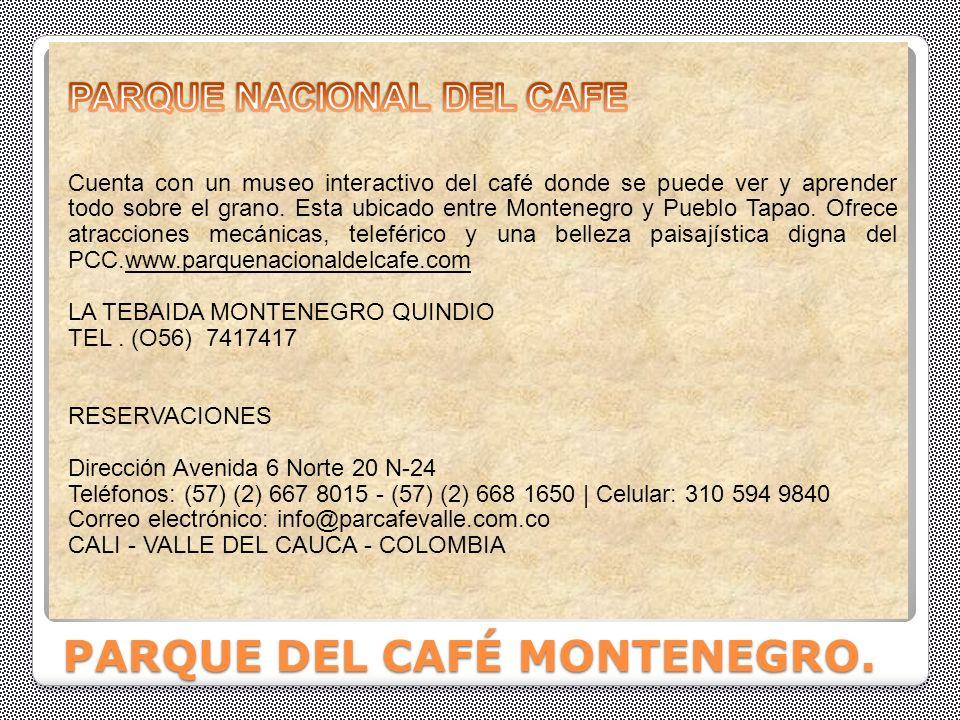PARQUE DEL CAFÉ MONTENEGRO.