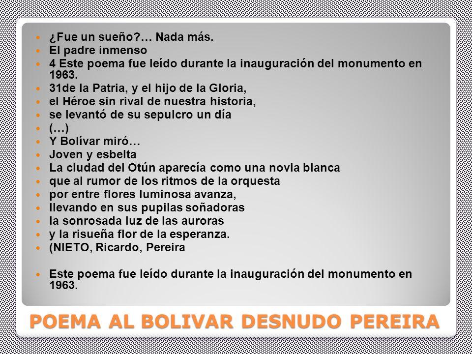 POEMA AL BOLIVAR DESNUDO PEREIRA