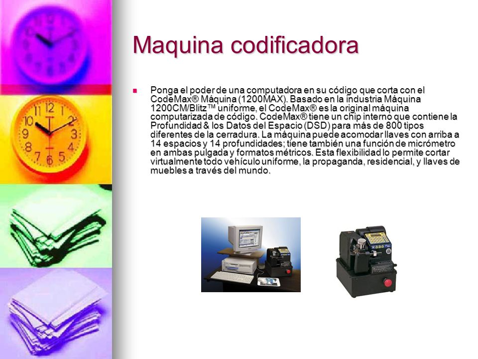 Maquina codificadora