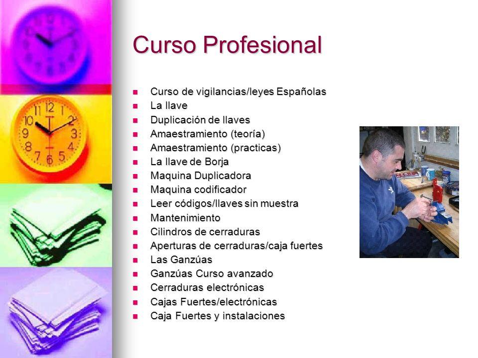 Curso Profesional Curso de vigilancias/leyes Españolas La llave