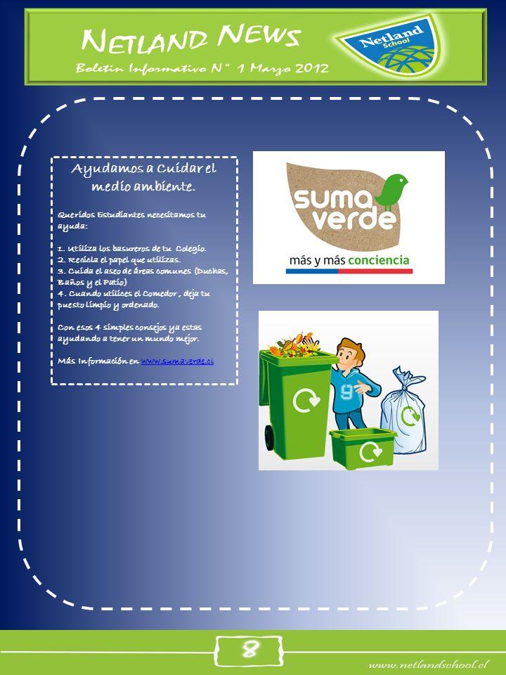 Ayudamos a Cuidar el medio ambiente.