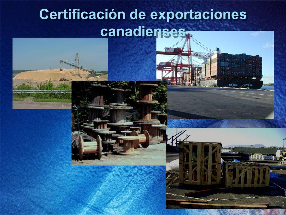 Certificación de exportaciones canadienses