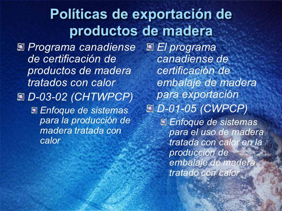 Políticas de exportación de productos de madera
