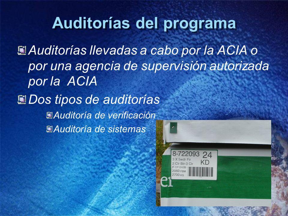 Auditorías del programa