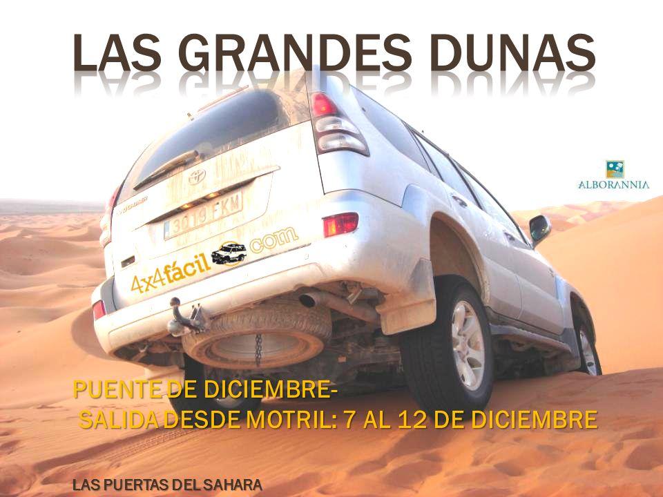 LAS GRANDES dunas PUENTE DE DICIEMBRE-