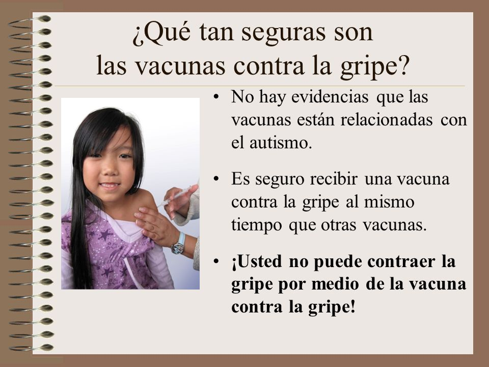 ¿Qué tan seguras son las vacunas contra la gripe