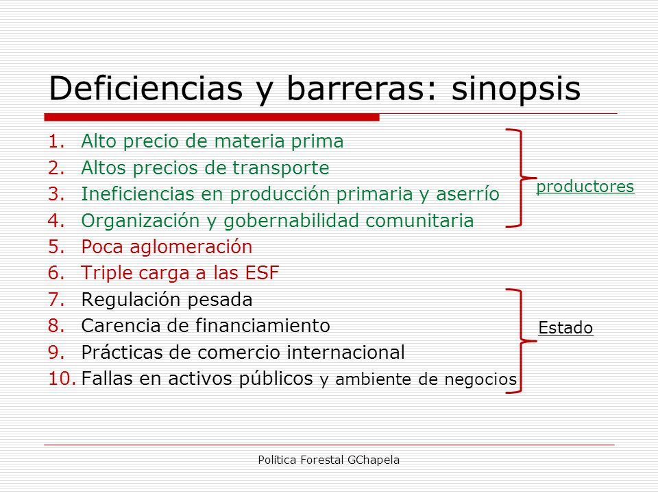 Deficiencias y barreras: sinopsis