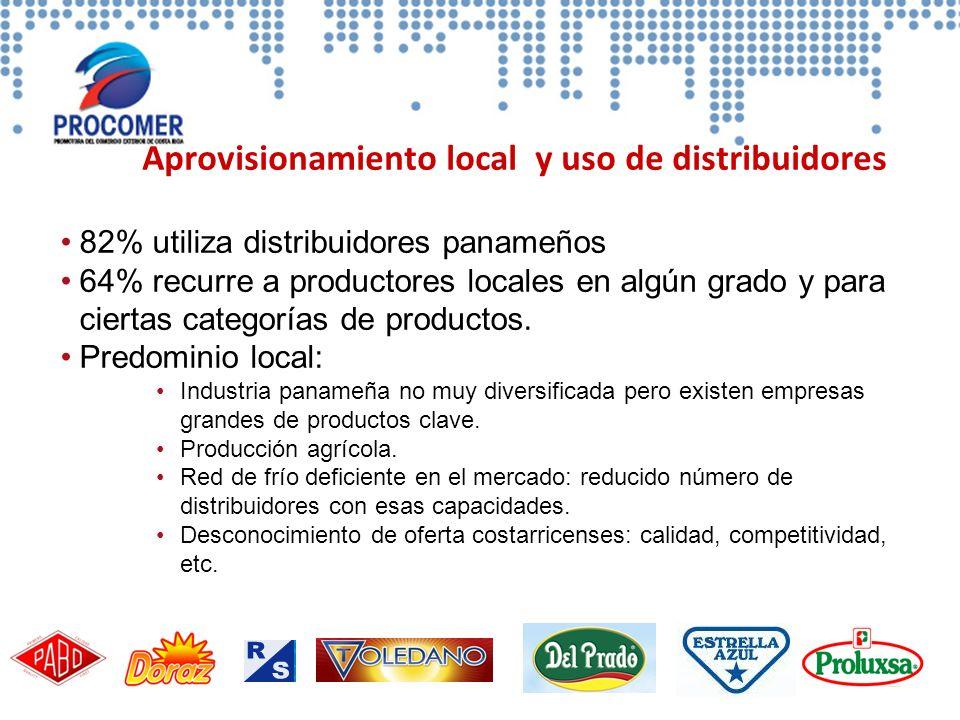 Aprovisionamiento local y uso de distribuidores