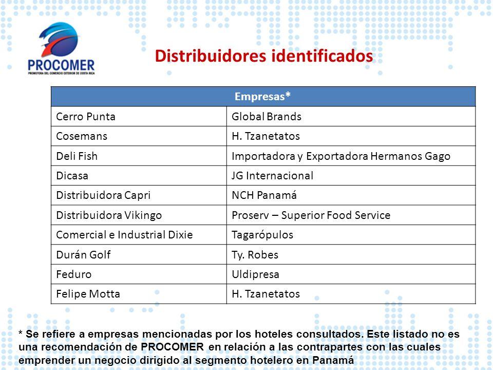 Distribuidores identificados