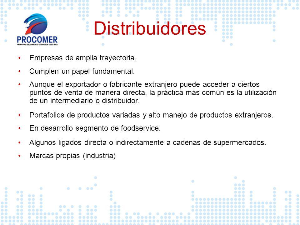Distribuidores Empresas de amplia trayectoria.