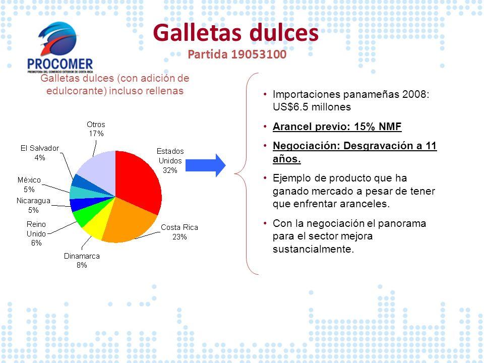 Galletas dulces Partida 19053100