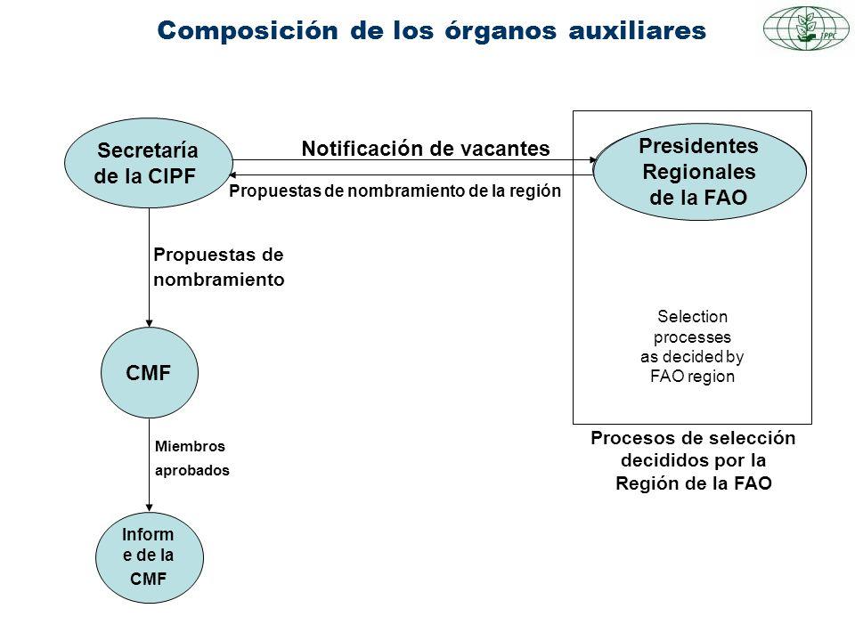 Composición de los órganos auxiliares