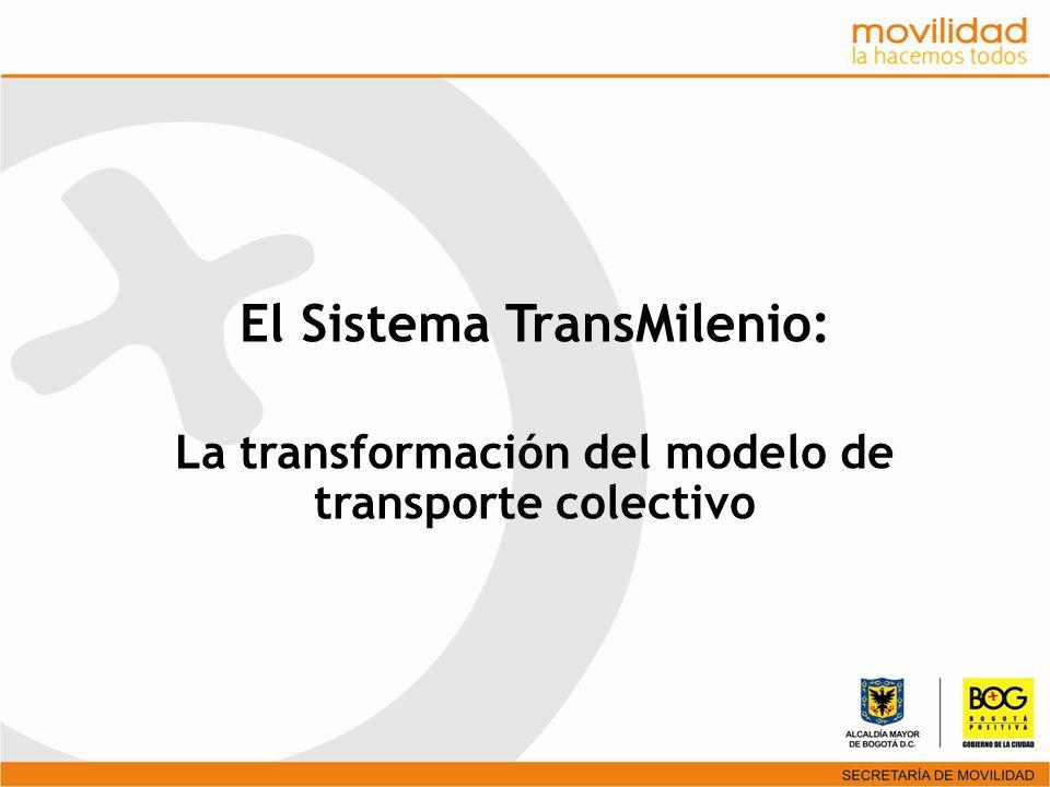 La transformación del modelo de transporte colectivo