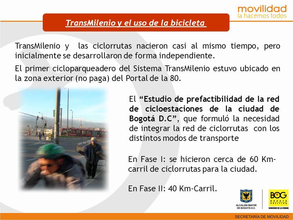 TransMilenio y el uso de la bicicleta
