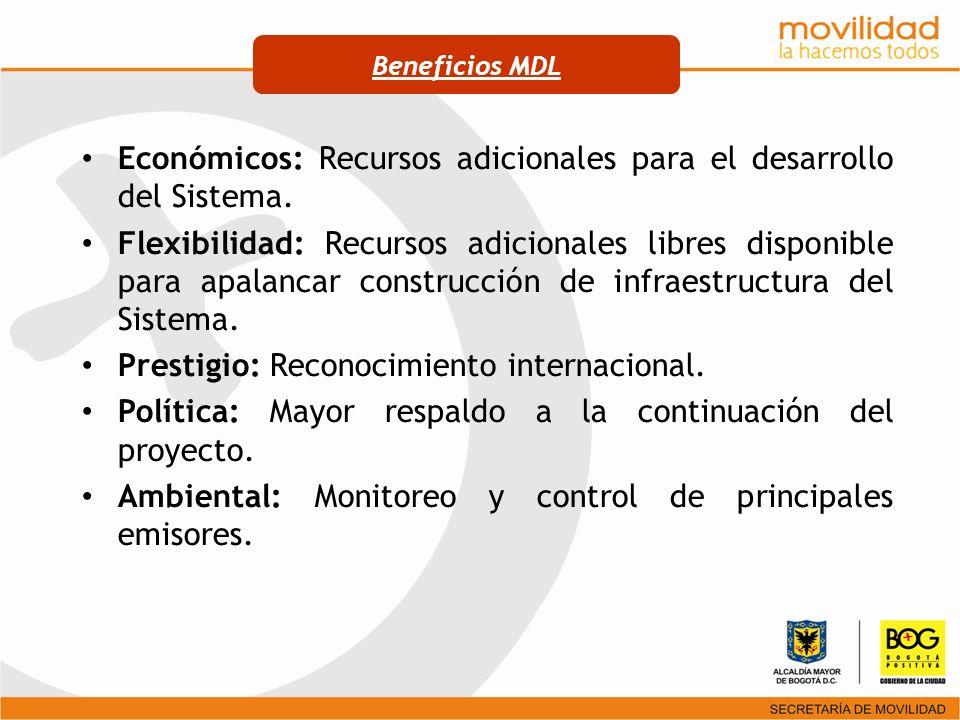 Económicos: Recursos adicionales para el desarrollo del Sistema.