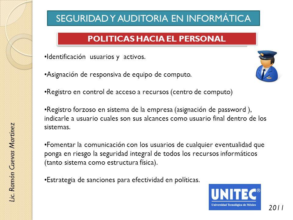 POLITICAS HACIA EL PERSONAL